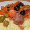 Le braisé d'agneau aux deux olives