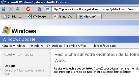 IE Tab au travail dans Firefox
