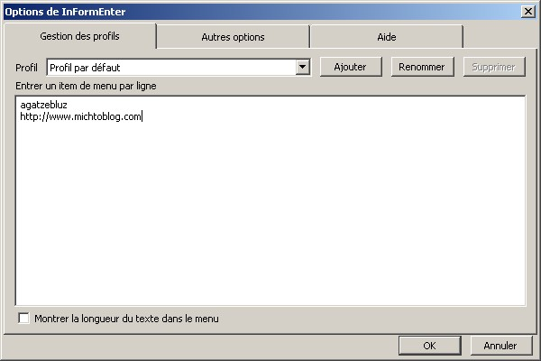 Informenter option