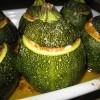 Courgettes farcies au boulgour, poivrons et féta