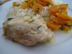 Poulet à l'estragon et aux carottes