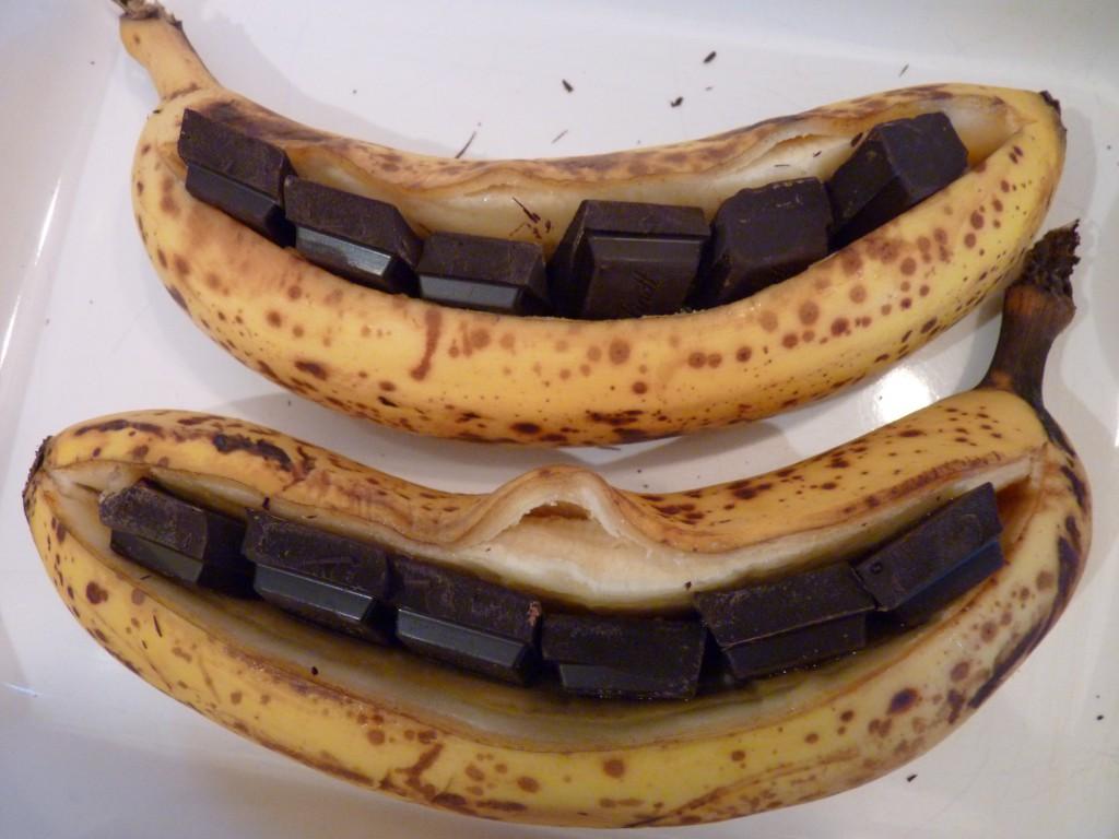 la banane r tie au chocolat et au miel michtoblog. Black Bedroom Furniture Sets. Home Design Ideas