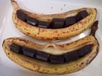 La banane rôtie au chocolat et au miel