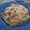 Le risotto au gigot et aux tomates séchées