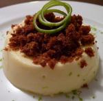 La crème au citron vert et son crumble de pain d'épices