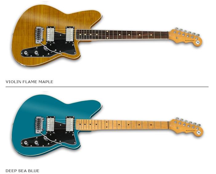 Nouvelles versions des guitares Jetstream chez Reverend