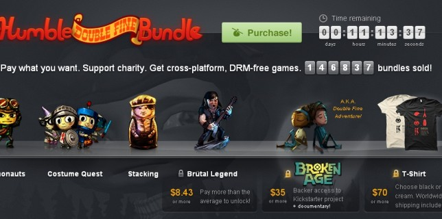 humble bundle double fine