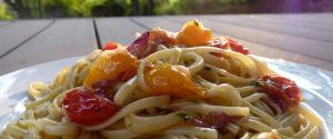 liguine tomates cerise huile basilic thumbnail