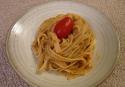 Fettucine au pesto sicilien de tomates