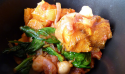 Le curry à la courge butternut, aux épinards et aux pois chiches