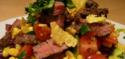 La salade mexicaine au boeuf mariné