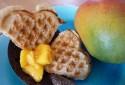 Les gaufres à la noix de coco